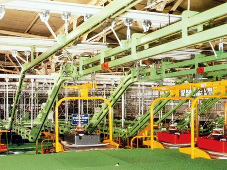 Overhead Monorail Conveyors Hanging Conveying Equipments